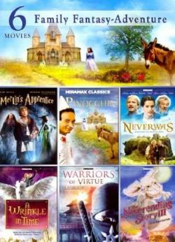 6 Film Family Fantasy Adventure DVD Cover Art