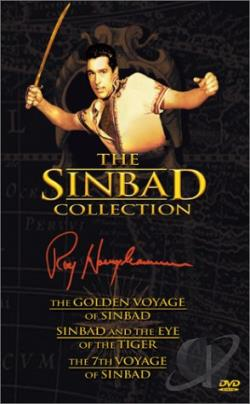 Sinbad Collection (Golden Voyage, Eye of Tiger, 7th Voyage) DVD Cover Art