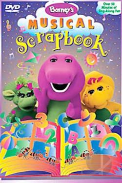 Barney - Barney's Musical Scrapbook DVD Cover Art