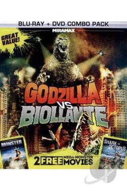 Godzilla vs. Biollante/Monster/Shark vs. Octopus BRAY Cover Art
