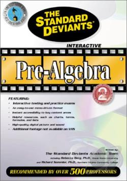 Standard Deviants - Pre-Algebra Part 2 DVD Cover Art