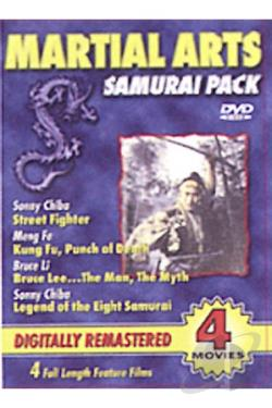 Martial Arts Samurai Pack DVD Cover Art