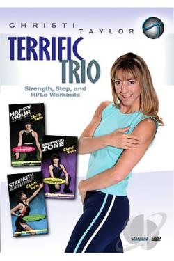 Christi Taylor: Terrific Trio Step and Hi/Lo Aerobics DVD Cover Art