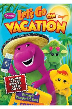 Barney - Let's Go On Vacation DVD Cover Art