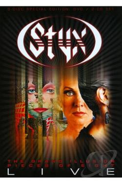 Styx: The Grand Illusion/Pieces of Eight - Live DVD Cover Art