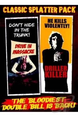 Classic Splatter Pack: Drive-In Massacre/The Driller Killer DVD Cover Art