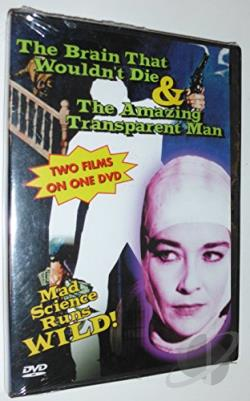 Brain That Wouldn't Die/The Amazing Transparent Man DVD Cover Art