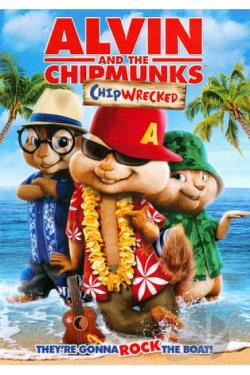 Alvin and the Chipmunks: Chipwrecked DVD Cover Art