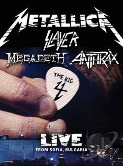 Metallica/Slayer/Megadeth/Anthrax: The Big 4 - Live from Sofia, Bulgaria DVD Cover Art