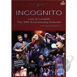 Incognito: Live in London: The 30th Anniversary Concert DVD Cover Art