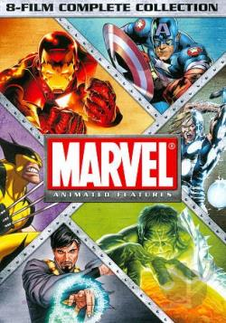 Marvel Animated Features 8-Film Complete Collection DVD Cover Art