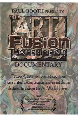 Paul Booth - The Art Fusion Experiment DVD Cover Art