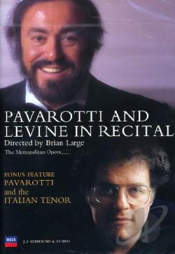 Pavarotti and Levine in Recital DVD Cover Art