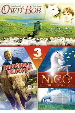 Owd Bob/Nico the Unicorn/The Impossible Elephant DVD Cover Art