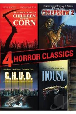 4 Horror Classics: Children of the Corn/Creepshow 2/C.H.U.D./House DVD Cover Art