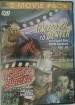 Stagecoach to Denver/Angel and the Badman DVD Cover Art