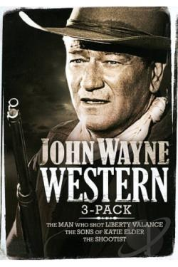 John Wayne Western 3-Pack DVD Cover Art