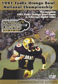 1991 FedEx Orange Bowl National Championship DVD Cover Art