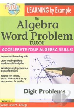 Algebra Word Problem Tutor: Digit Problems DVD Cover Art