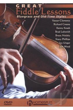 Great Fiddle Lessons: Bluegrass and Old Time Style DVD Cover Art