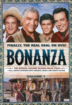 Bonanza: The Official Second Season, Vols. 1 and 2 DVD Cover Art