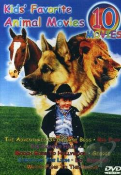 Kids' Favorite Animal Movies - Ten Movies On Five DVDS DVD Cover Art