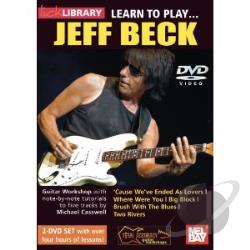 Lick Library: Learn to Play... Jeff Beck DVD Cover Art