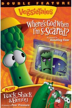 Veggie Tales: Where's God When I'm S-scared?/Rack, Shack & Benny DVD Cover Art