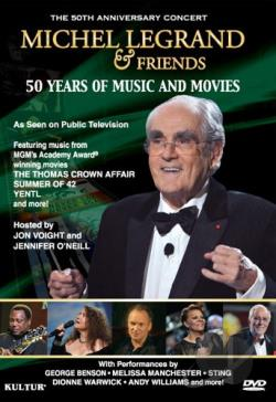 Michel Legrand & Friends: 50 Years of Music and Movies DVD Cover Art