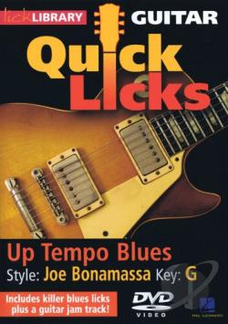 Lick Library: Guitar Quick Licks - Up Tempo Blues Joe Bonamassa Style DVD Cover Art