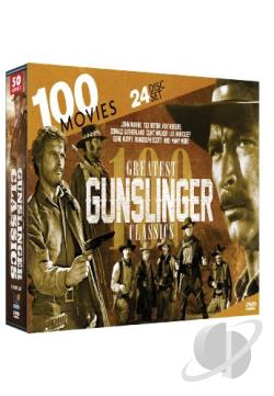 Greatest Gunslinger Classics: 100 Movies DVD Cover Art