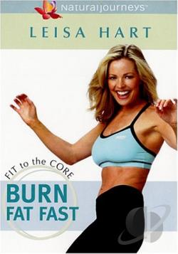 Leisa Hart's Fit to the Core - Burn Fat Fast DVD Cover Art