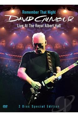 David Gilmour: Remember That Night - Live at the Royal Albert Hall DVD Cover Art