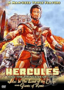 Hercules and the Princess of Troy/Atlas in the Land of the Cyclops/Giants of Rome DVD Cover Art