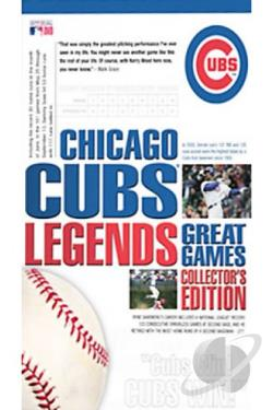 Chicago Cubs Legends: Great Games DVD Cover Art