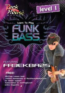 Rock House Method: Learn Funk Bass, Level 1 - Featuring Freekbass DVD Cover Art