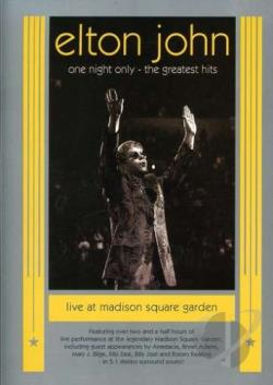 Elton John - One Night Only: The Greatest Hits DVD Cover Art