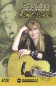 Rory Block Teaches the Guitar of Robert Johnson DVD Cover Art