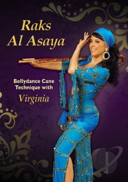 Raks al Asaya: Bellydance Cane Technique with Virginia DVD Cover Art