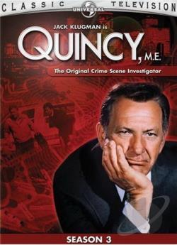 Quincy, M.E. - The Complete Third Season DVD Cover Art