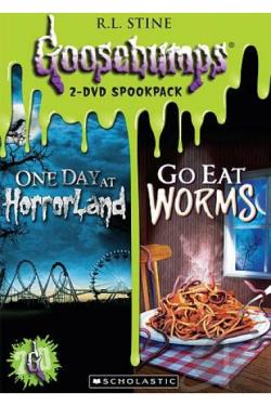 Goosebumps: One Day at Horrorland/Go East Worms! Double Feature DVD Cover Art