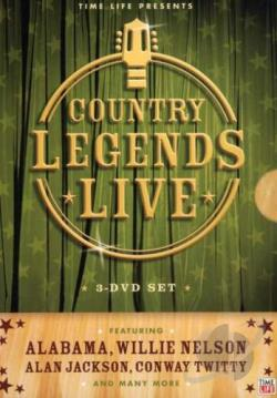 Country Legends Live - 3-Disc Set DVD Cover Art