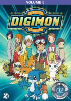 Digimon: Digital Monsters - The Official Second Season, Vol. 5 DVD Cover Art