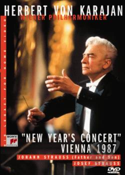 Herbert Von Karajan - New Year's Eve Concert 1987 DVD Cover Art