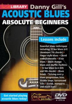 Lick Library: Danny Gill's Acoustic Blues for Absolute Beginners DVD Cover Art