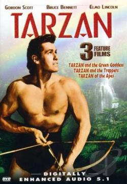 Tarzan Triple Feature - Tarzan and the Trappers/Tarzan and the Green Goddess/Tarzan of the Apes DVD Cover Art