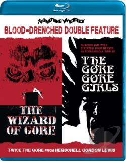 Blood-Drenched Double Feature: The Wizard of Gore/The Gore Gore Girls BRAY Cover Art