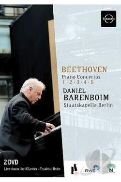Beethoven - Piano Concertos no 1 - 5 / Daniel Barenboim DVD Cover Art