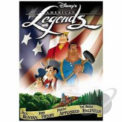 Disney's American Legends DVD Cover Art