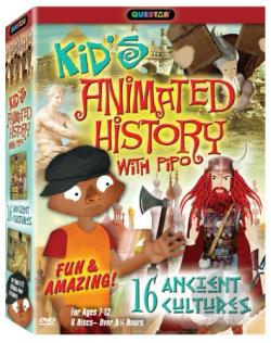 Kid's Animated History with Pipo: 16 Ancient Cultures DVD Cover Art